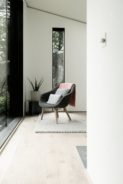 In addition to bespoke furniture, key pieces are from Hay.