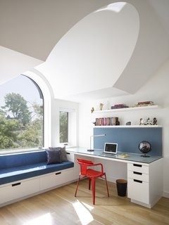 Here is another one of the built-in office nooks.