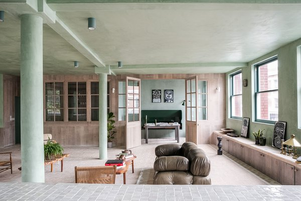 The living space has french doors leading to a separate study.