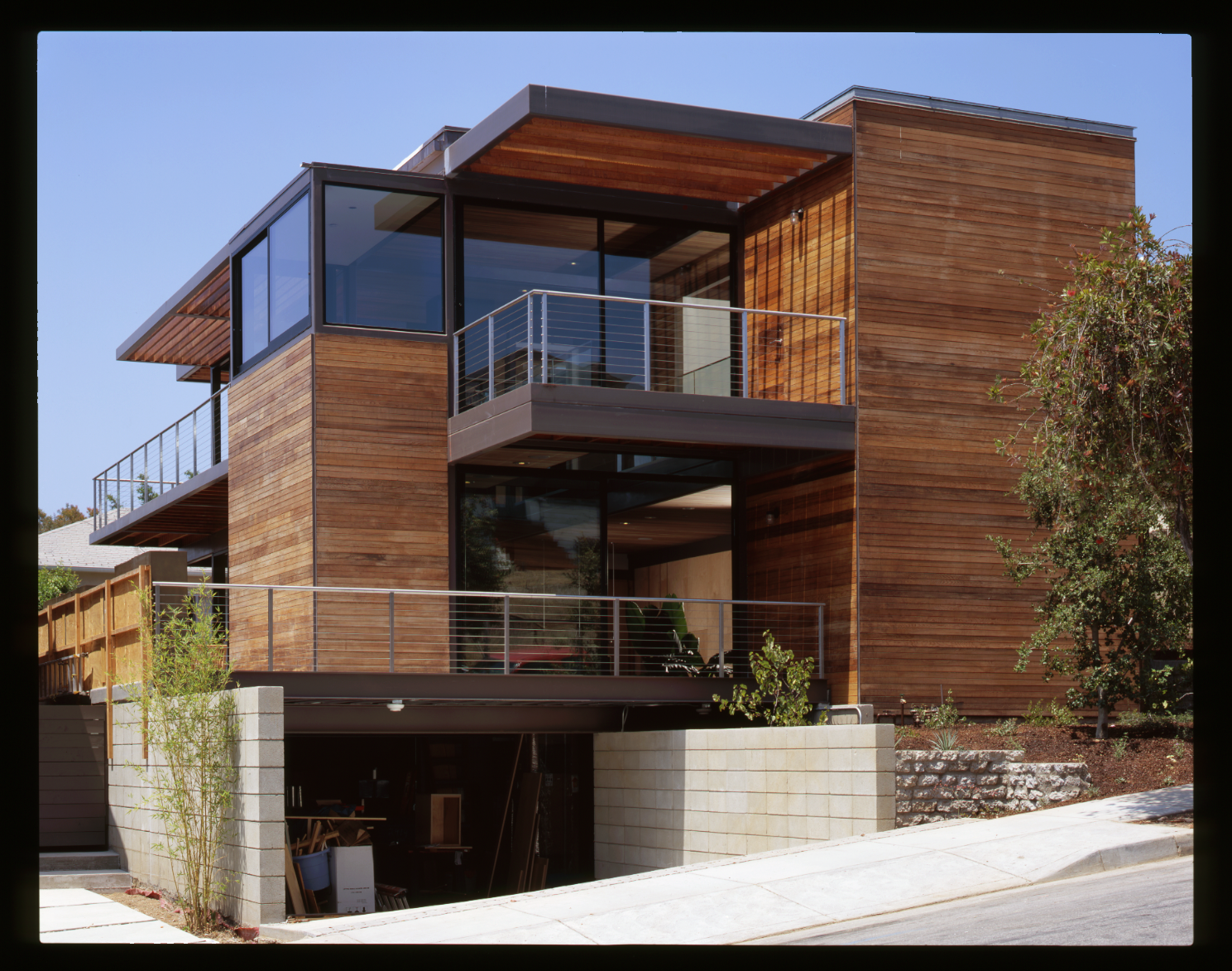 Exterior, House Building Type, Prefab Building Type, Metal Roof Material, Wood Siding Material, and Flat RoofLine LivingHomes holds weekly, scheduled tours of this LivingHome in Santa Monica.  Photo 15 of 21 in Here Are the Modern Prefab Designs That Amazon's Investing In