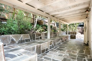 A peek at the stone patio.