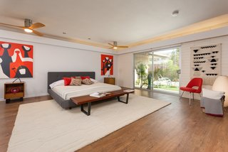 One of the five bedrooms.