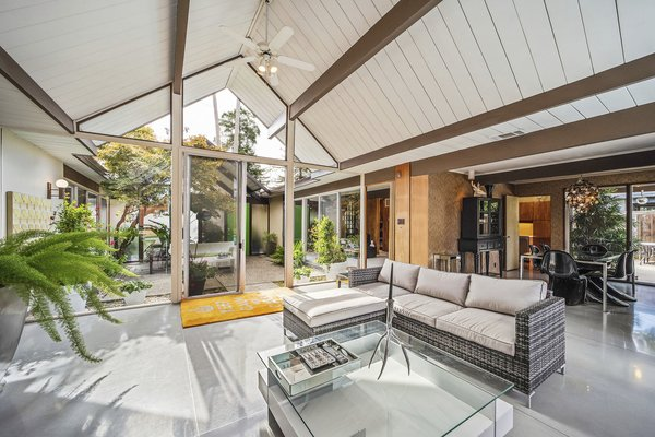 A look at the light-filled living space.