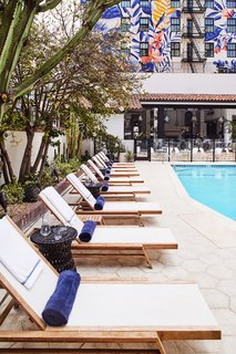 Since land in downtown LA comes at a premium, most hotel pools are relegated to rooftops. Hotel Figueroa's ground-level pool is an extravagant and beloved original feature that adds to the property's character and lively social scene.
