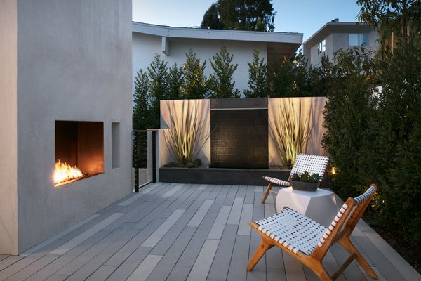 Sweis created a number of different outdoor spaces, each with its own feel.