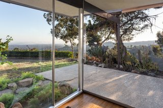 The glass walls create a strong connection with the outdoors.