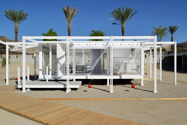 The Palm Springs Modern Committee relocated and reconstructed a full-scale replica of architect Paul Rudolph's 1952 Walker Guest House. It's currently on loan from the Sarasota Architectural Foundation.