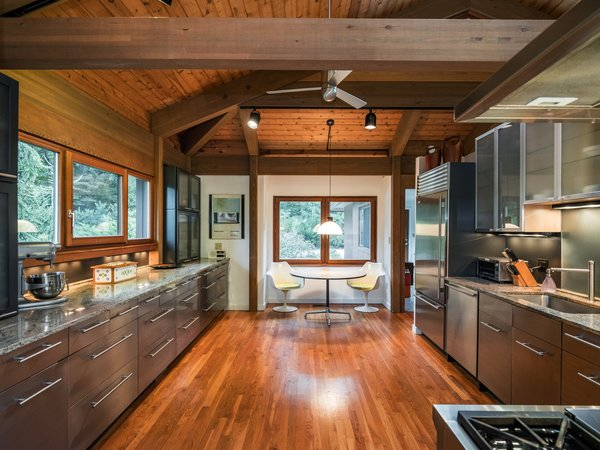 The spacious eat-in kitchen has room for an island.