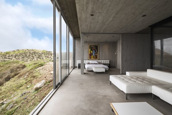 Rustic concrete provides the perfect backdrop to the landscape.