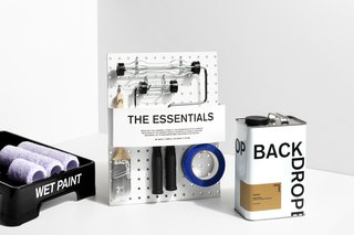 The Backdrop Essential kit has everything needed to paint a room.