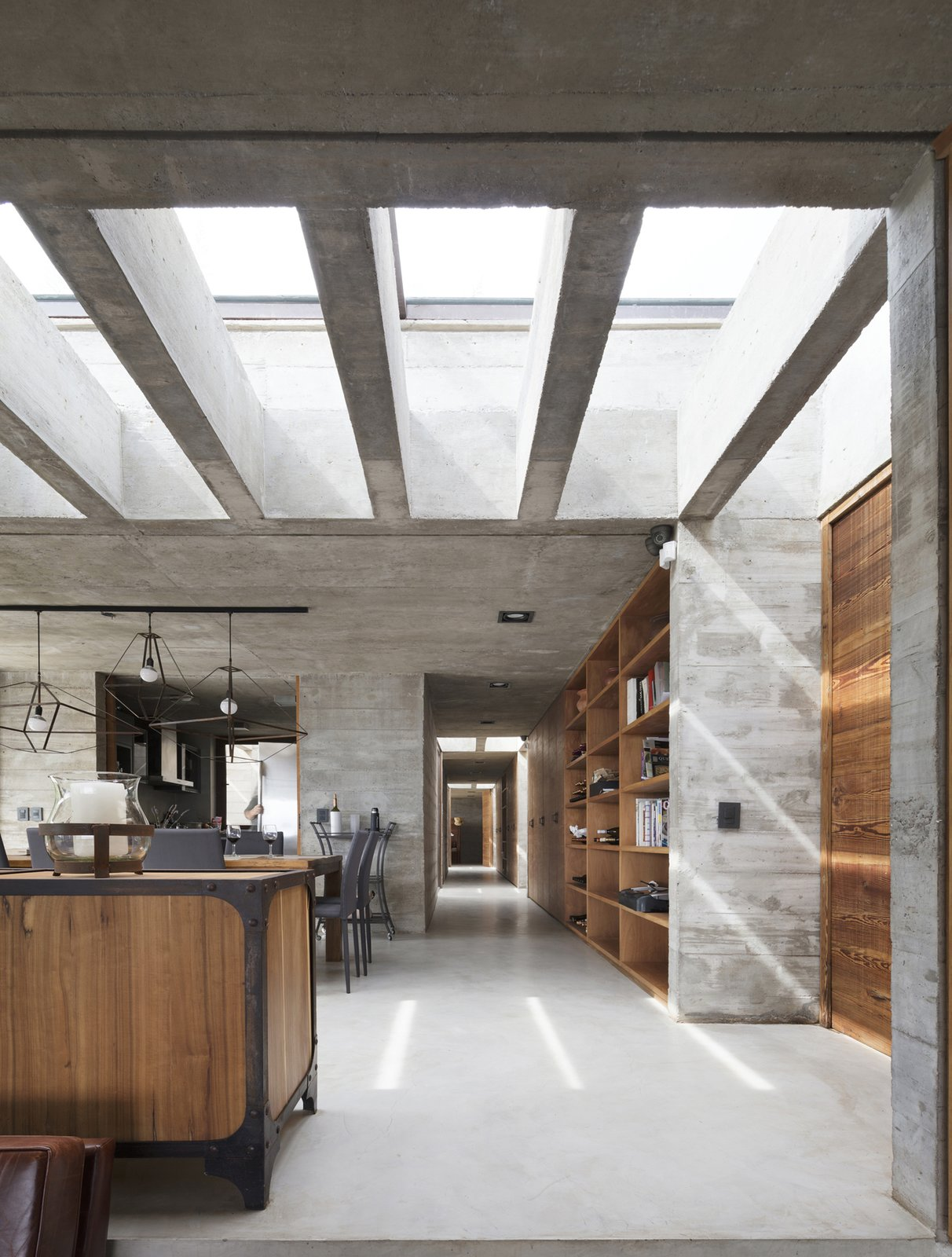 Casa FM interior with skylights