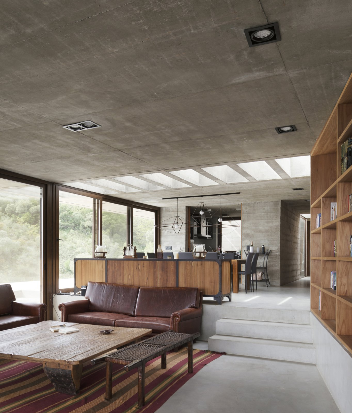 Casa FM concrete home living room