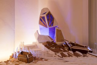"""Last year in London, the Museum of Architecture hosted a """"Gingerbread City"""" with over 50 architecture firms participating, including Zaha Hadid Architects, who built this monumental creation."""