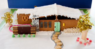 Taking inspiration from a Cliff May Home Tour during Modernism Week, this gingerbread house was inspired by a classic example of his clean, modular architecture. There is even a template you can download to recreate this one at home.