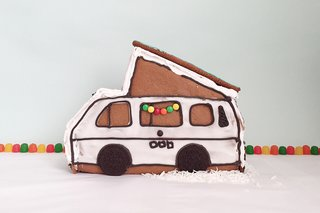 We love this gingerbread version of a camper van. Hipcamp even published the recipe and a DIY tutorial—the best thing is that this is an easy holiday project can be tackled by even the most novice gingerbread builders.