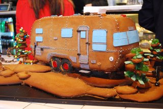 The gorgeousness of this edible Airstream by Black Market Bakery (which has locations in Costa Mesa, Santa Ana, and San Diego) may just inspire you to head out on your own holiday road trip. It even boasts a pretzel-lined campfire in the back.