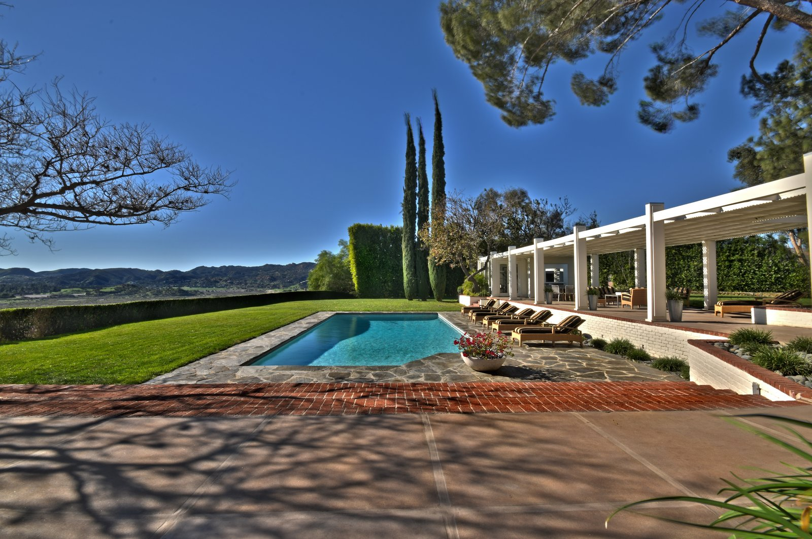 Byrdview Frank Sinatra estate pool with terrace