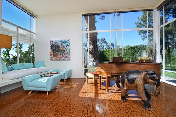 The second living room offers garden views.