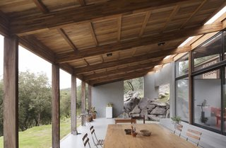 Natural Stone Outcrops Pop Up in This Argentinian Retreat