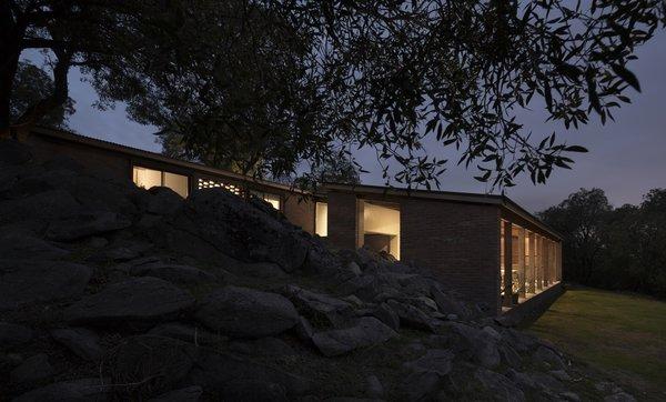 Casa JB at night.