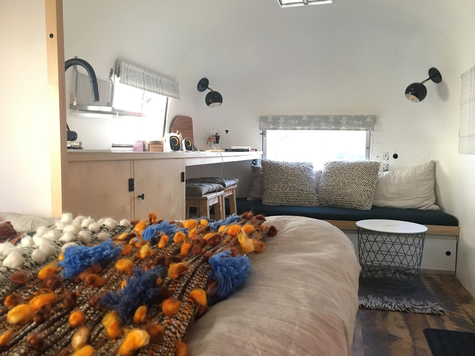 After: Silver Sequoia airstream living area