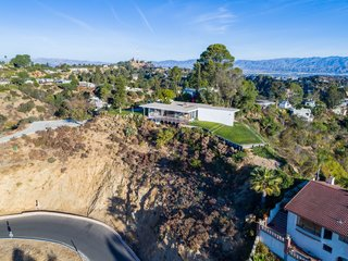 The historic Chuey House sits atop a ridge on Sunset Plaza Drive in the Hollywood Hills.