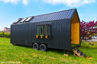 """Here's your chance to score a """"floor model"""" of Perch and Nest's Roost26 tiny house at a deep discount."""