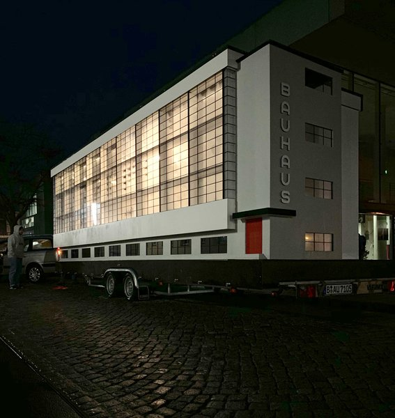 The Bauhaus bus will travel the world, visiting four cities in celebration of the school's centenary year.