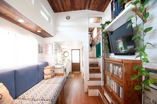 """Shalina Kell is a graphic designer and a maker—and now she can add """"tiny home builder"""" to her resume. The single mom lives with her teenage daughter in a lovely, light-filled, 350-square-foot tiny home in Sacramento that she built and designed herself."""
