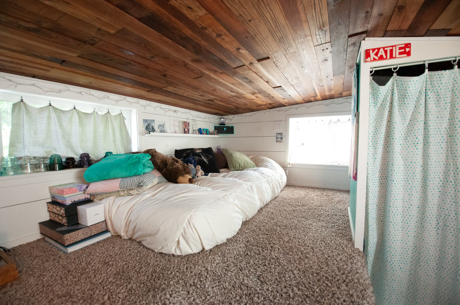 Her Tiny Home loft bedroom
