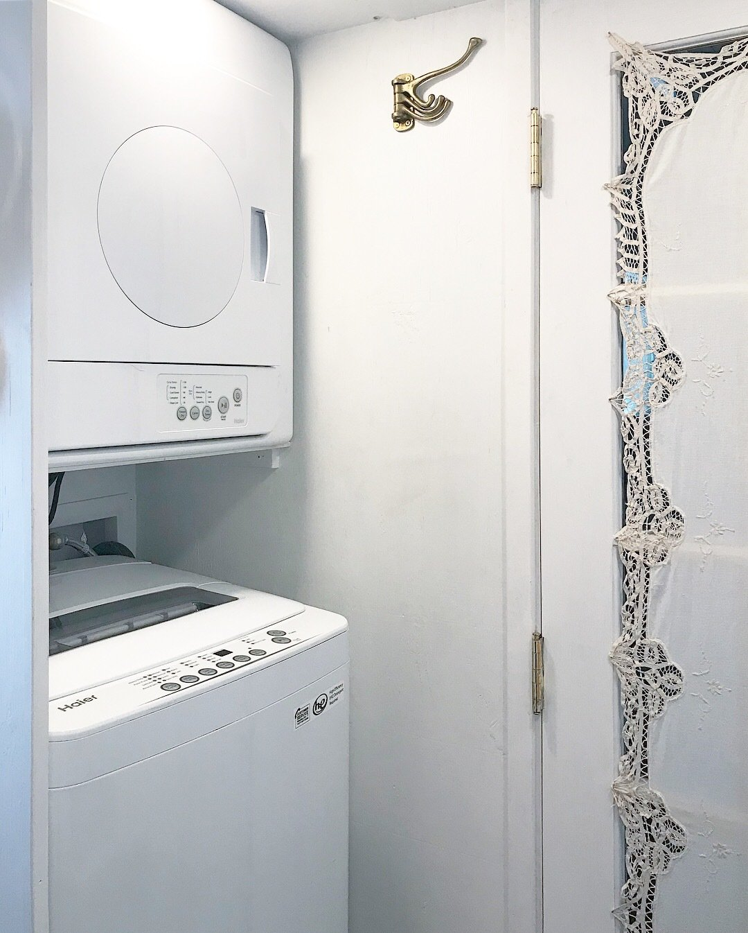 Her Tiny Home washer and dryer