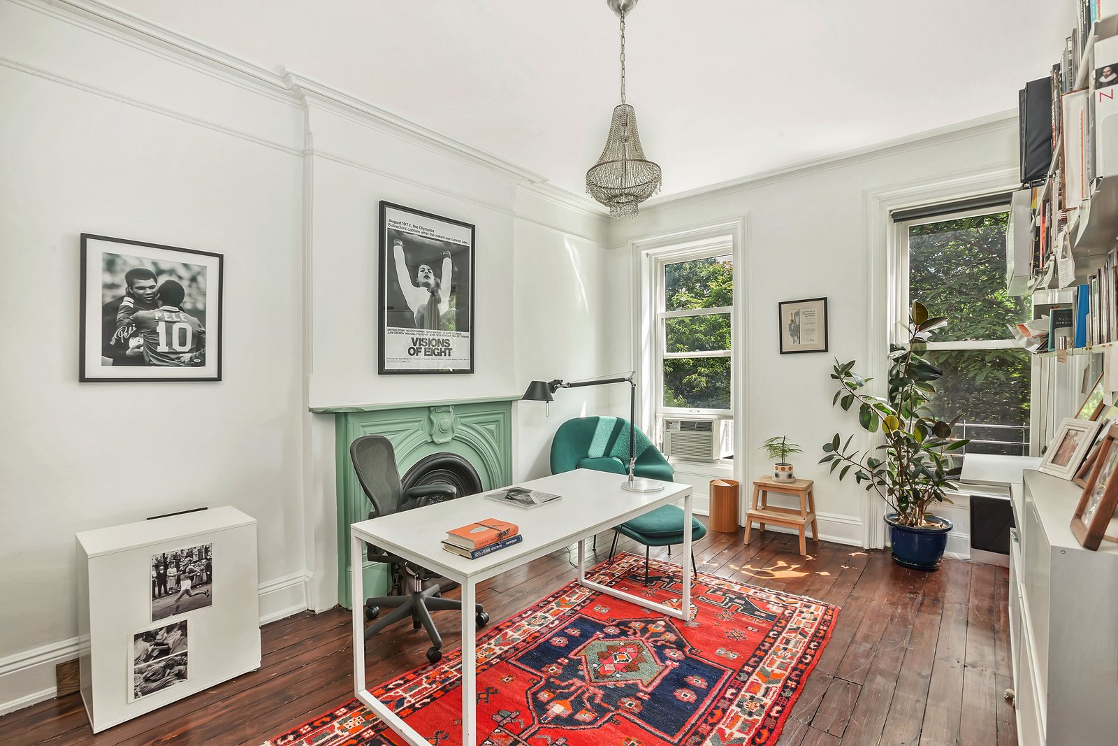 Maggie Gyllenhaal and Peter Sarsgaard's Park Slope Townhouse office