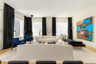 The living room of J.Lo and A-Rod's Park Avenue apartment.