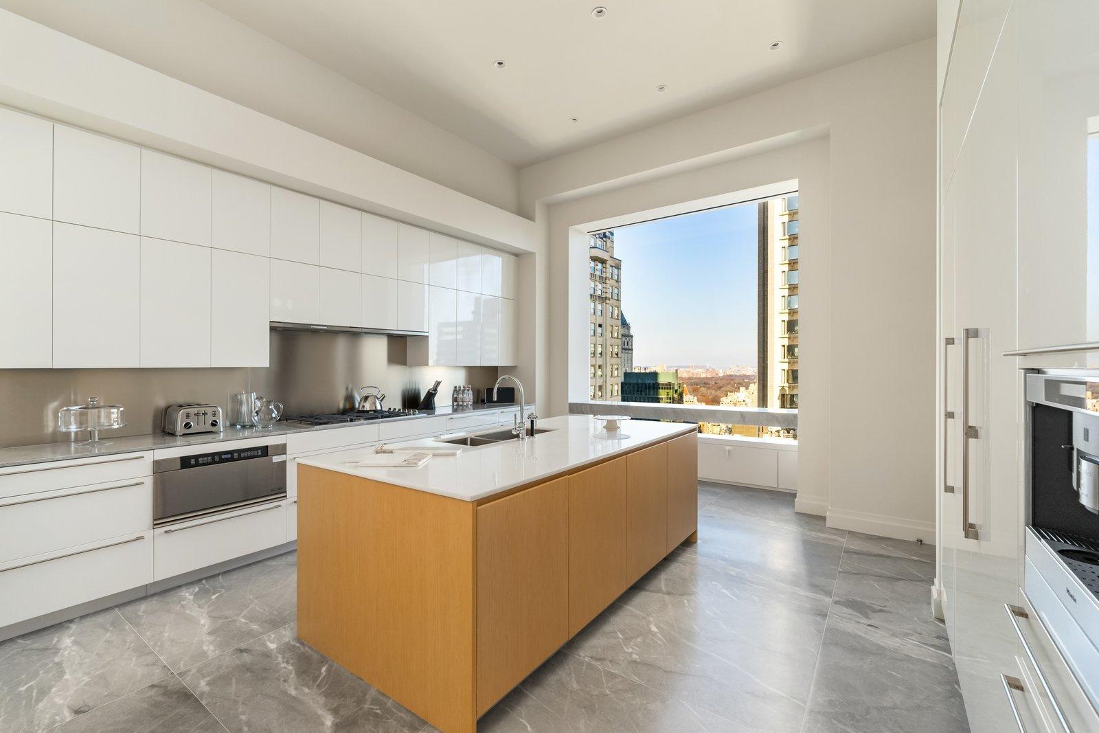 J.Lo and A-Rod's 432 Park Avenue apartment kitchen