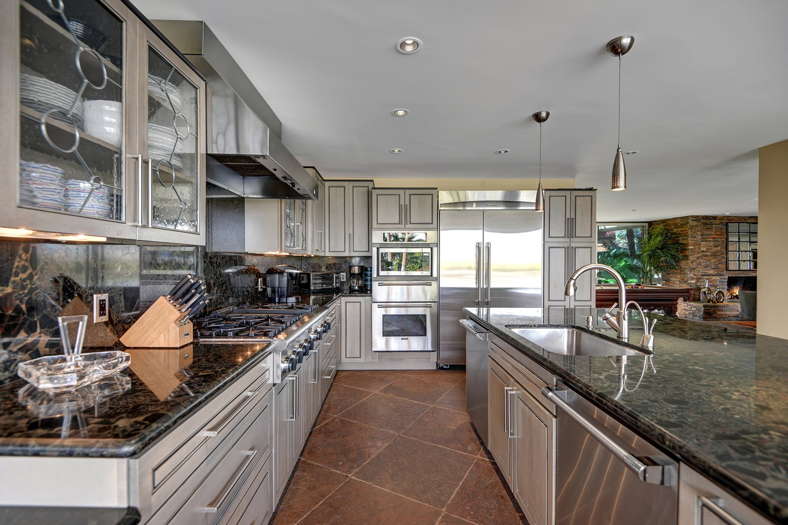 Bing Crosby Rancho Mirage home kitchen