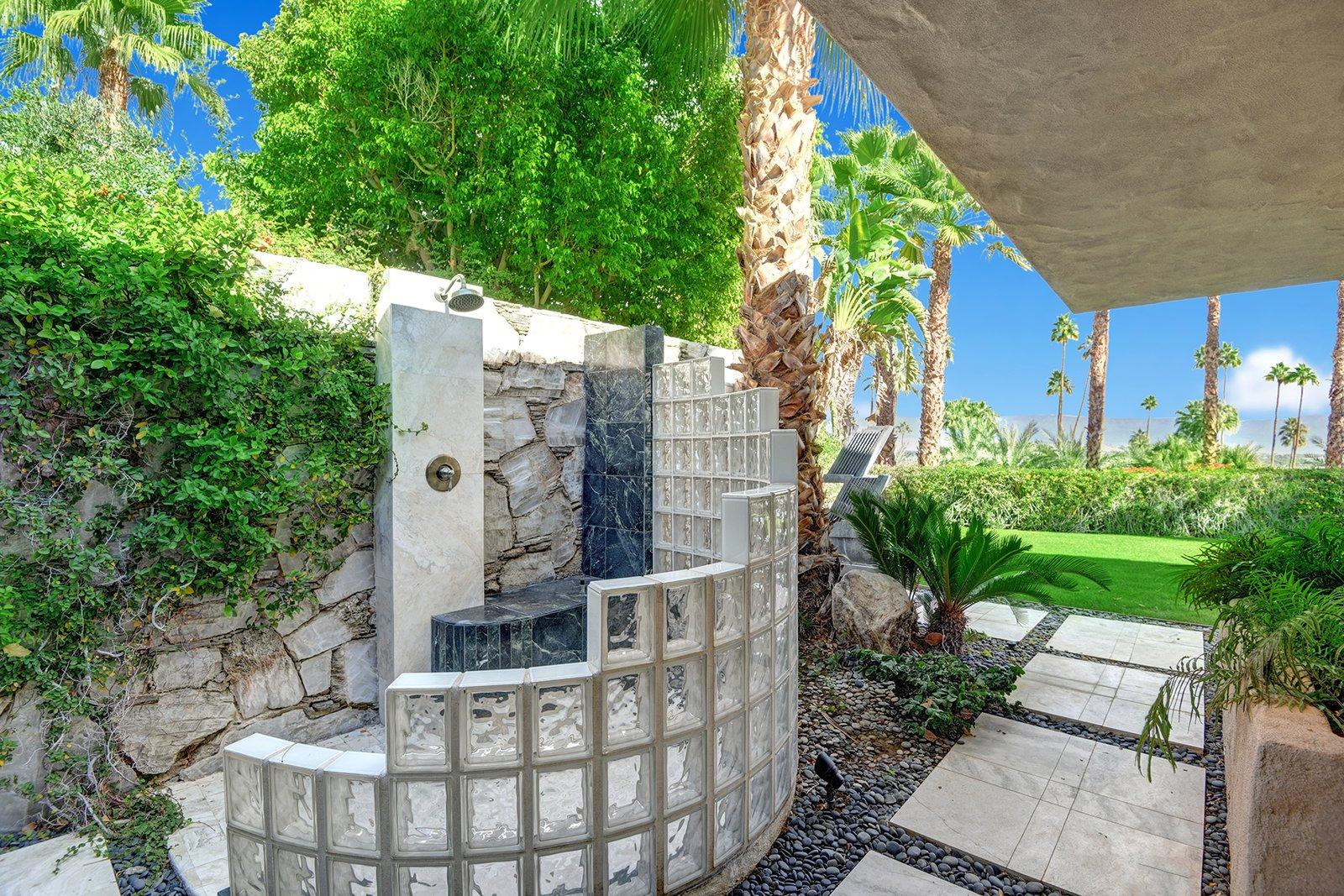 Bing Crosby Rancho Mirage home outdoor shower