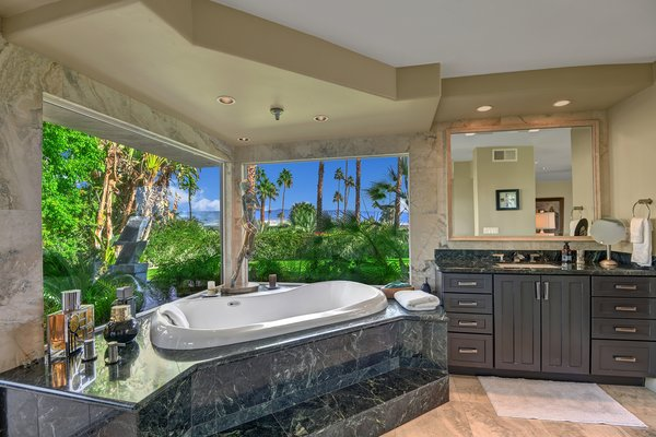 The spa-like master bathroom.