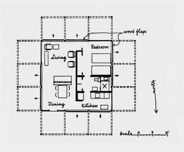 Photo 11 of 13 in Paul Rudolph's Walker Guest House Needs a ... on dunphy house floor plan, stimson house floor plan, duggar house floor plan, borden house floor plan, hoke house floor plan, sowden house floor plan, cullen house floor plan, bates house floor plan, osborne house floor plan, brady house floor plan, huxtable house floor plan, walsh house floor plan,