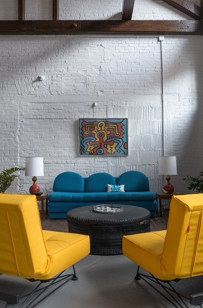 The current owners used industrial materials to give the former factory a warm and cozy feel.