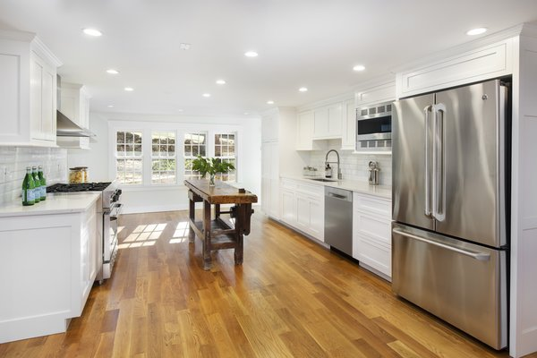 The bright, renovated kitchen.