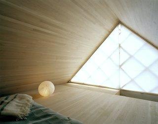 The minimalist interiors draw upon Japanese aesthetics.