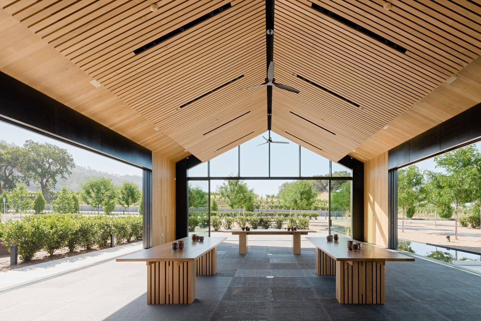 Silver Oak winery tasting room interior