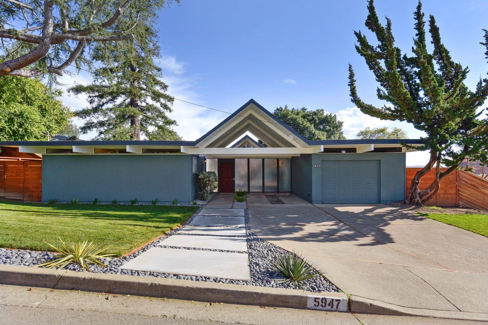5947 Highwood Road Castro Valley Eichler exterior