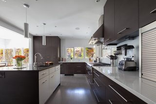 One of the highlights of the home is the luxurious, modern kitchen which was enlarged and updated during the renovation.