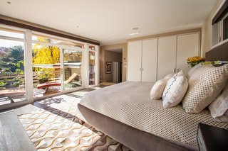 The master bedroom features its own private deck.