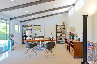 This room, currently used as an office space, is in an addition added by the original owners as a second master suite.