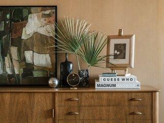 A vintage bedroom vignette.