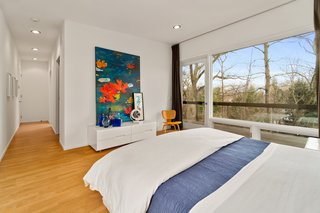 A glass door in the master bedroom opens to a small terrace.
