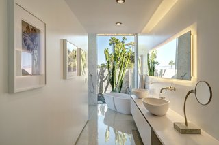 A view of the master bath.