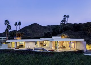 The contemporary home is a beautiful take on desert modernism.